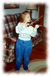 Taryn playing violin